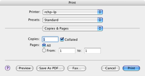 screenshot of save as pdf button
