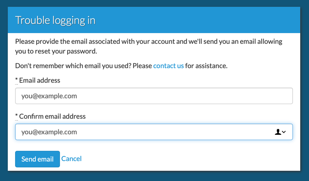 Email address, twice
